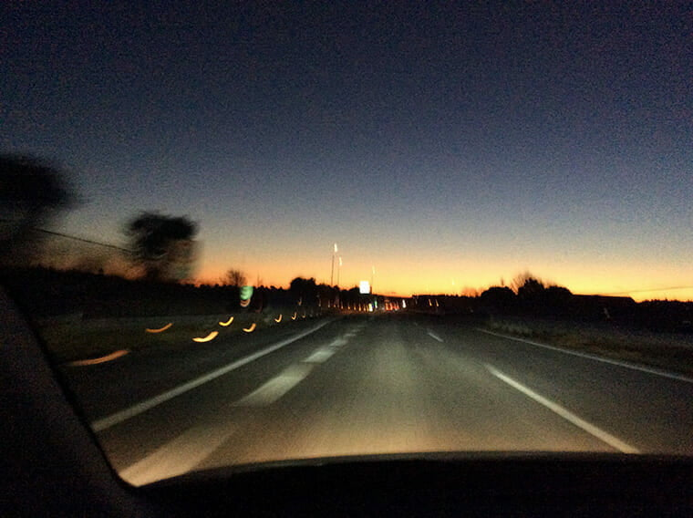 日の出前の北関東道