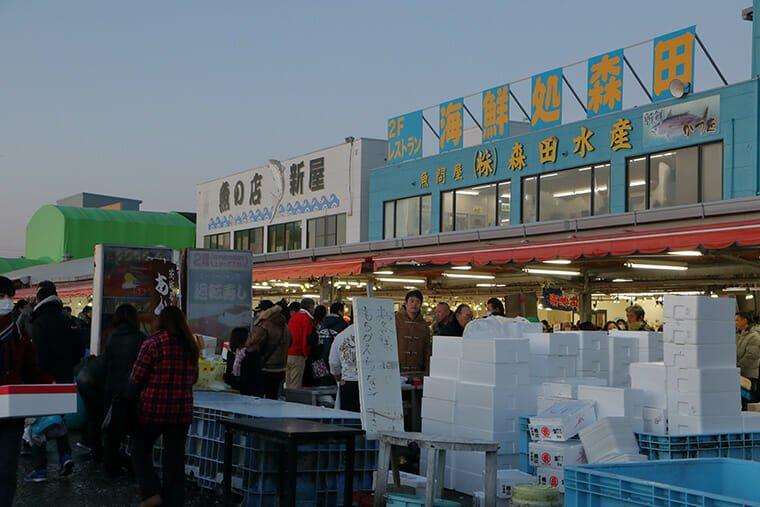 早朝の那珂湊おさかな市場