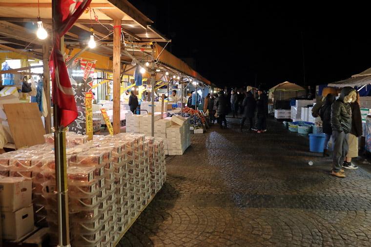 那珂湊おさかな市場の早朝の様子