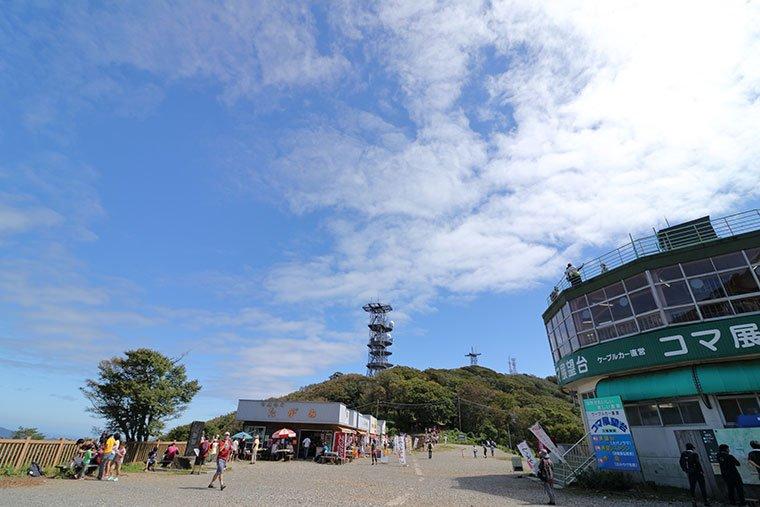 筑波山の山頂風景