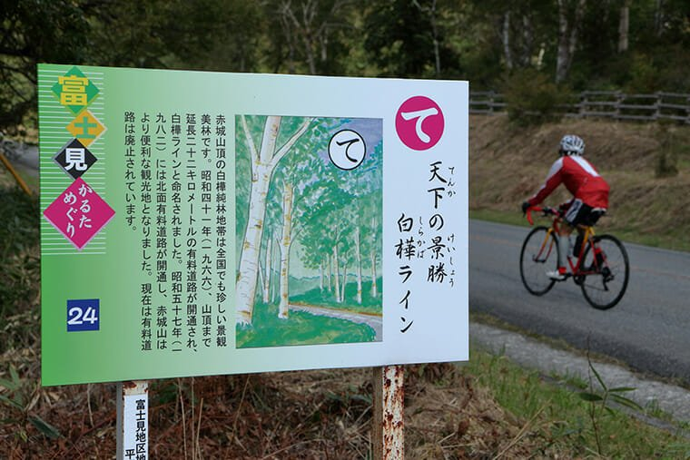 富士見カルタと白樺ライン