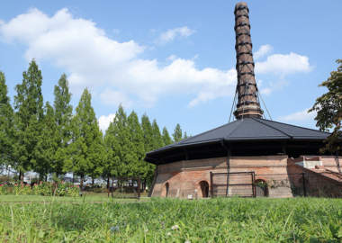 野木町煉瓦窯の全景