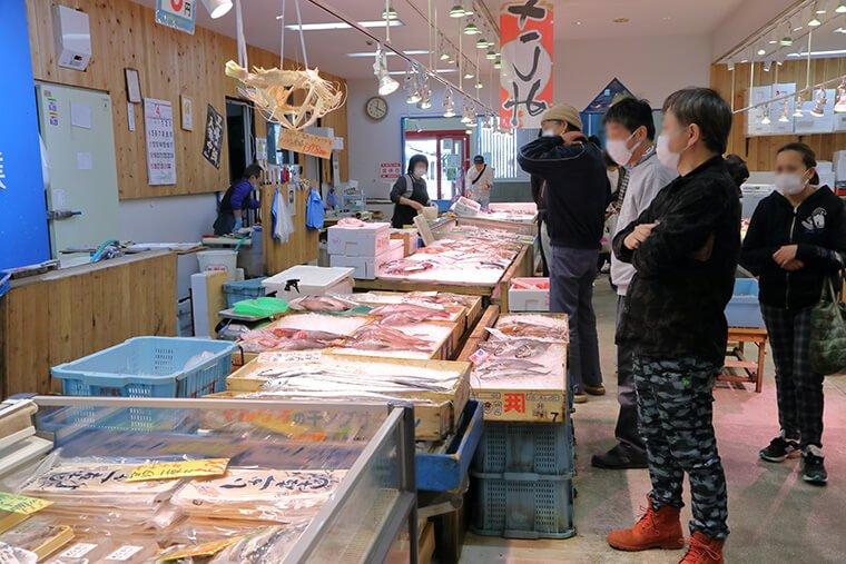 日立海鮮市場の店内
