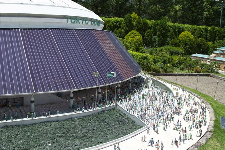 東武ワールドスクウェアの東京ドームのミニュチュア