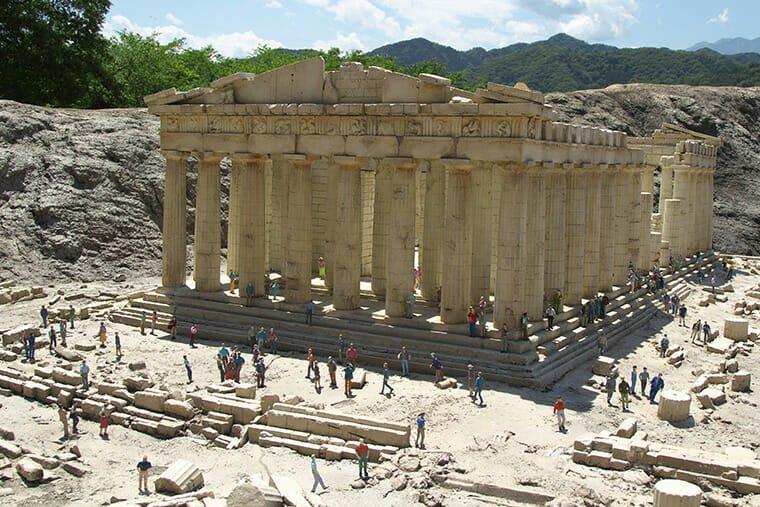 パルテノン神殿のミニュチュア