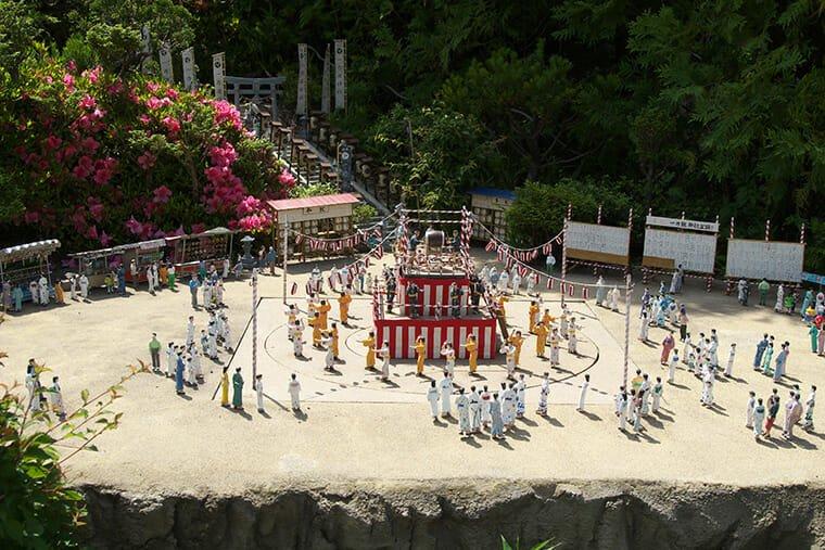 日本の祭りのミニュチュア