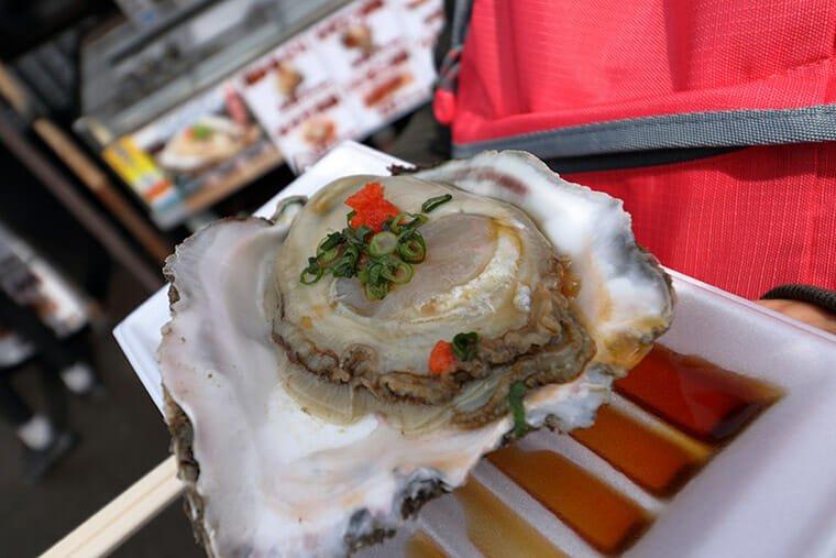 大洗産の岩牡蠣