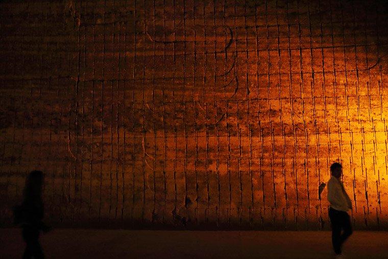 大谷石地下採掘場跡の手彫り跡