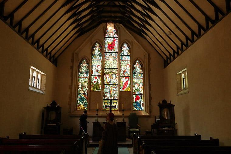 セント・ガブリエル礼拝堂のステンドグラス