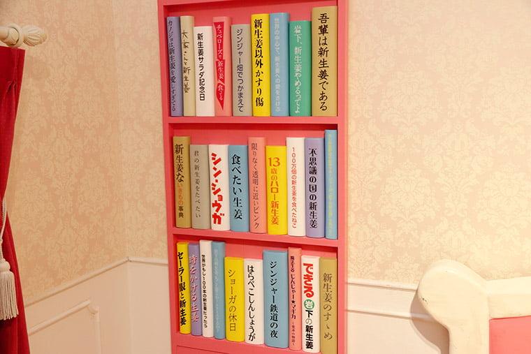 新生姜の部屋の本棚