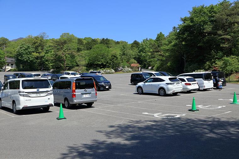 那須高原南ヶ丘牧場の駐車場