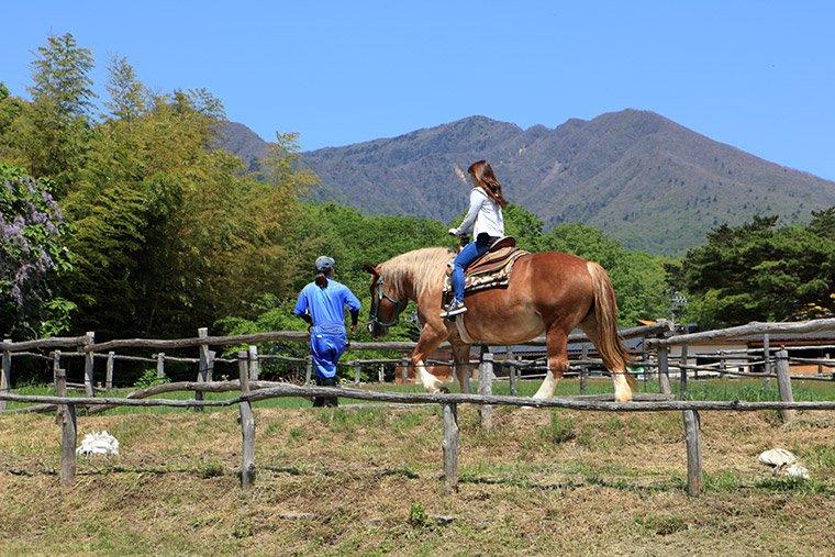 那須高原南ヶ丘牧場の乗馬体験
