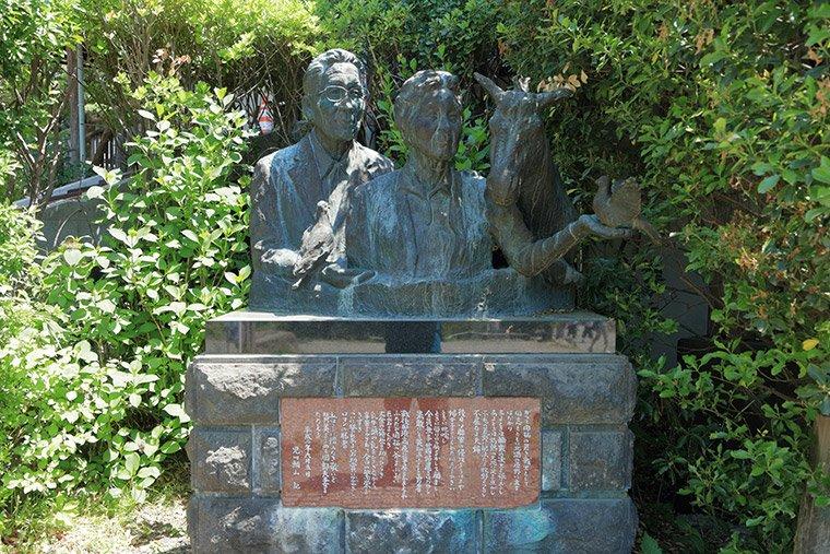 那須高原 南ヶ丘牧場の創業者の銅像