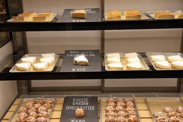 チーズガーデンの各種ケーキ