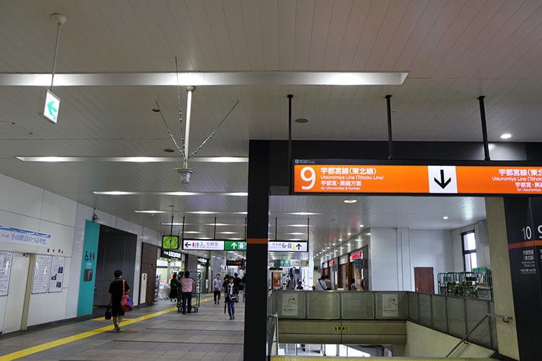 小山駅構内