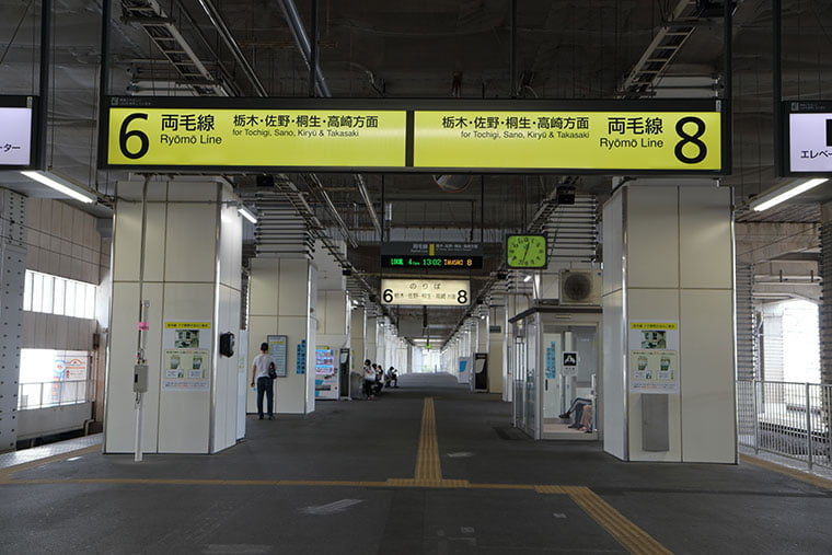 小山駅 両毛線乗り場