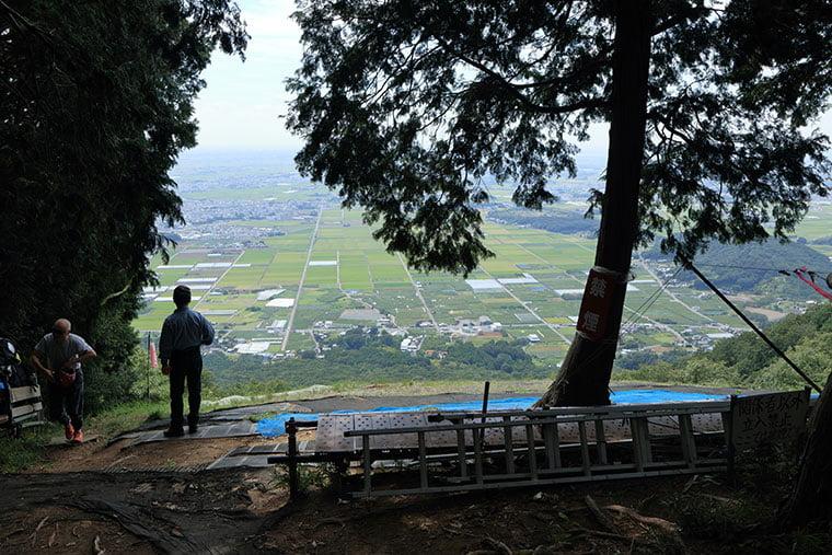 大平山のパラグライダー発着場