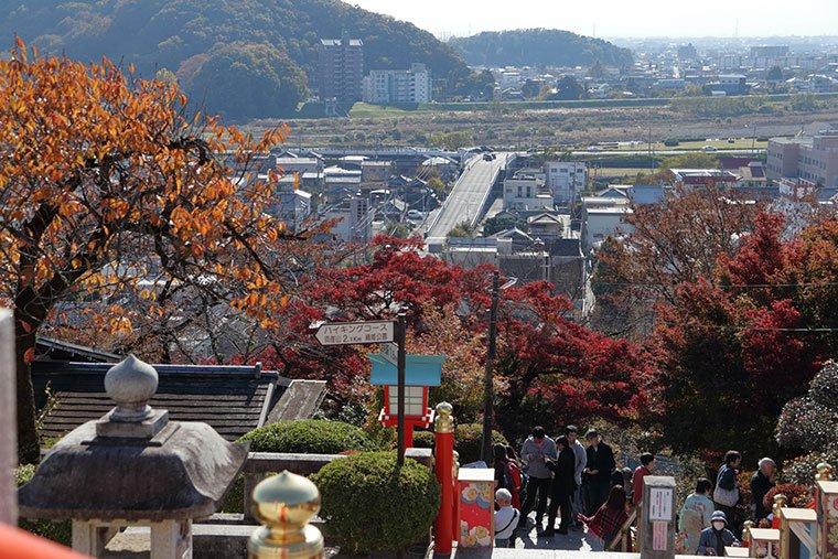 織姫神社からの足利の町