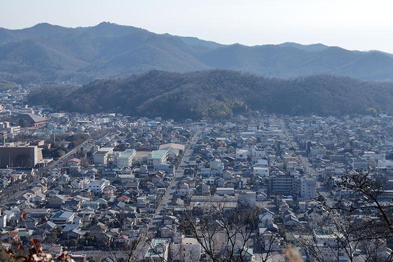 織姫神社から望む足利市街地