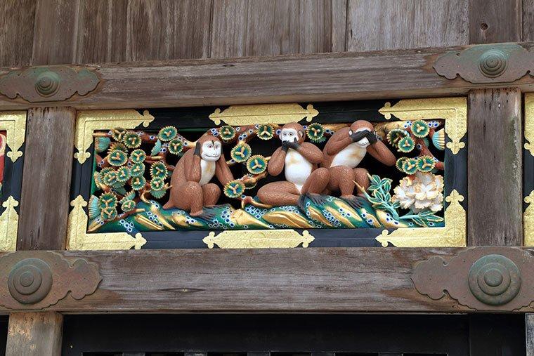 日光東照宮の三猿(重文)