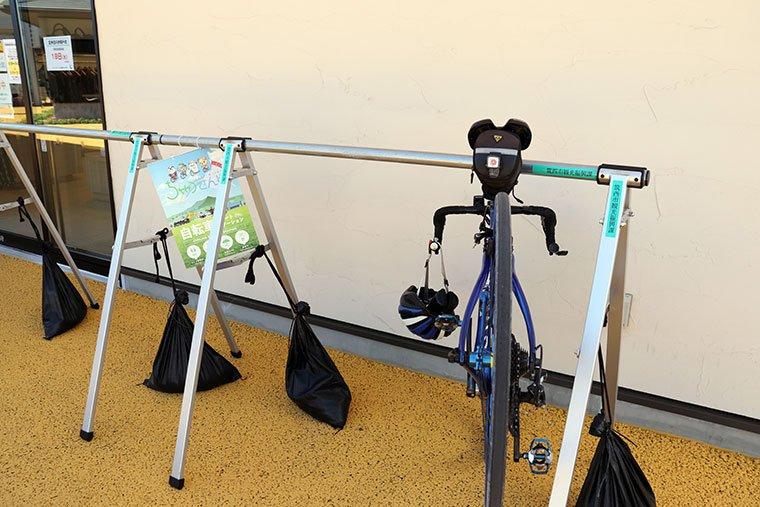グランテラス筑西の自転車ラック