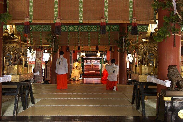 日光二荒山神社の奉納舞い