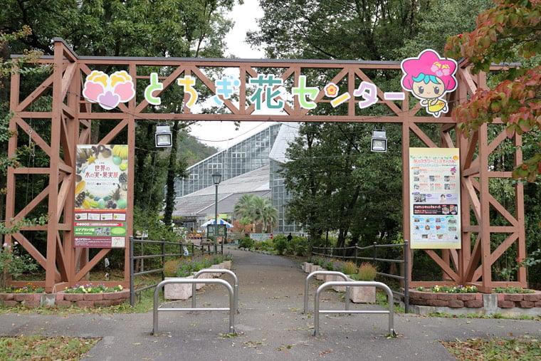 とちぎ花センターの表面ゲート