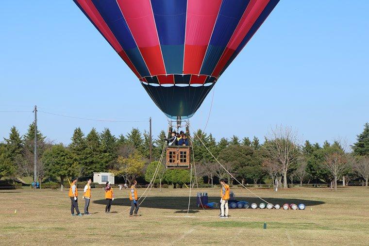 気球体験搭乗体験風景