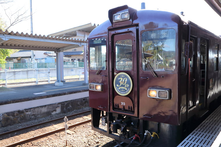 大間々駅と列車