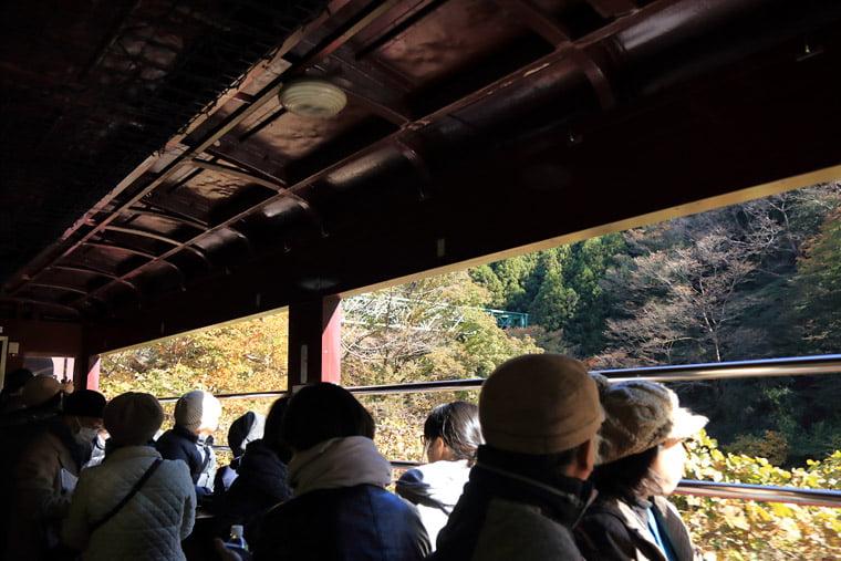 トロッコ列車から眺める渓谷美