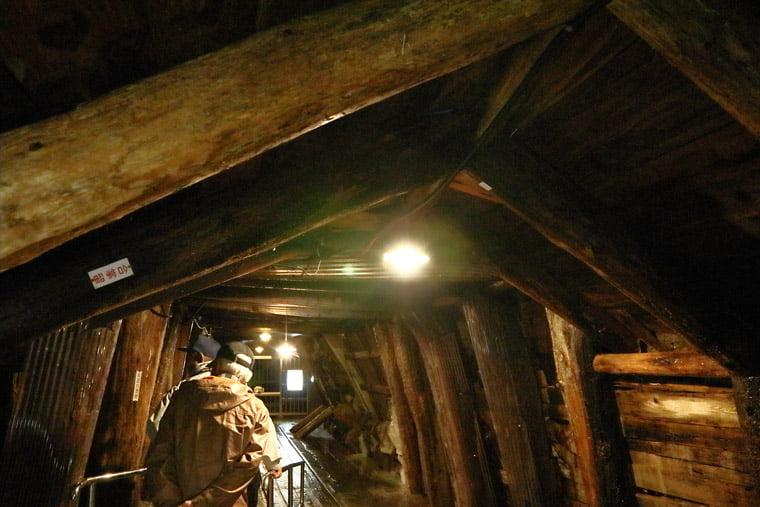通洞坑内部