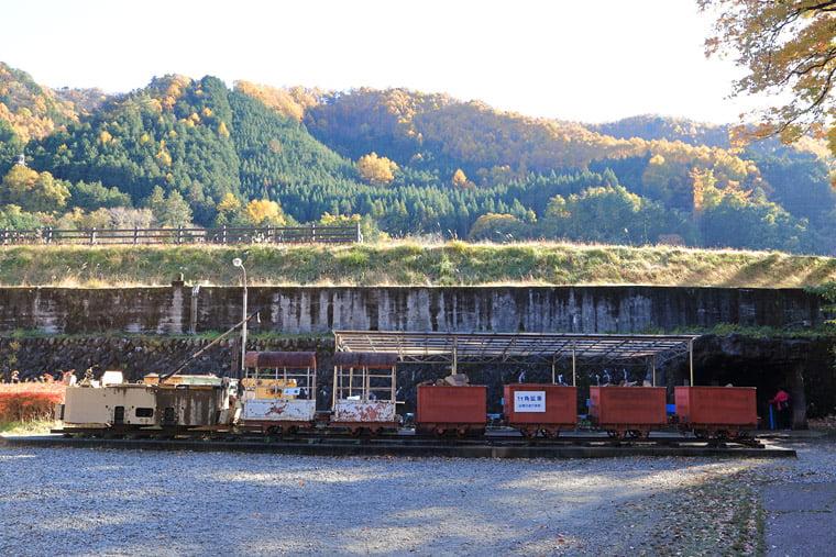 鉱山鉄道車輌の展示