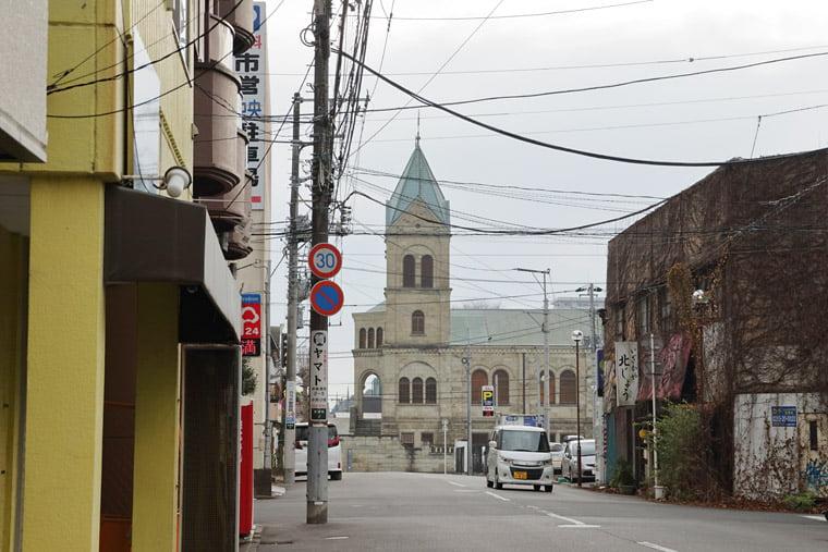 カトリック松が峰教会の周辺風景