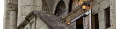 カトリック松が峰教会の聖堂入口