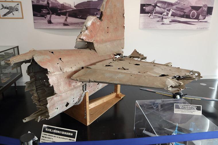 零戦二一型の後部尾翼