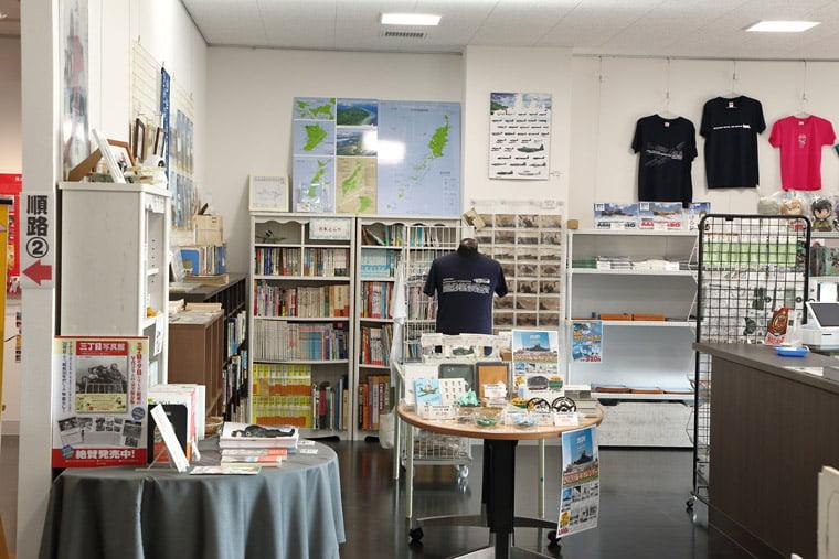 筑波海軍航空隊記念館 ミュージアムショップの店内