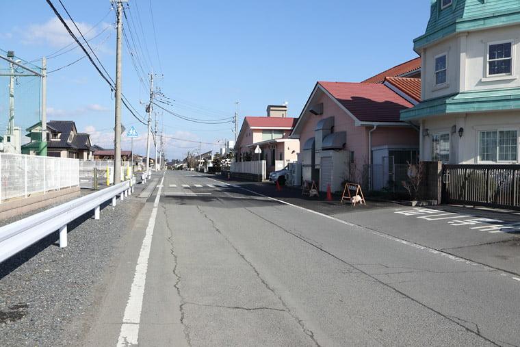 筑波海軍航空隊基地の滑走路跡