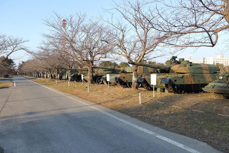 土浦駐屯地の戦闘車両展示