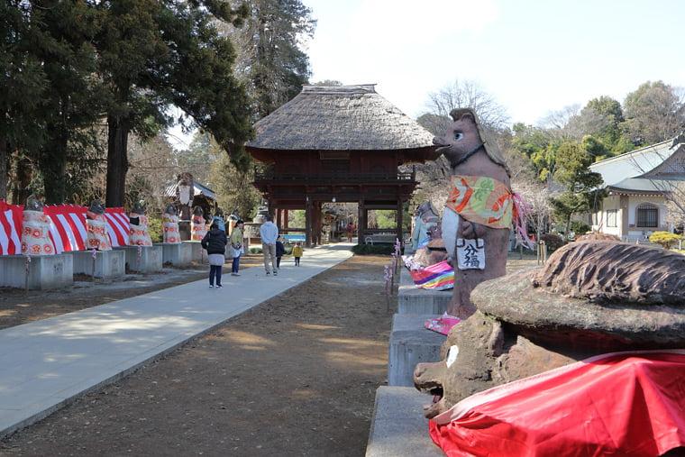 茂林寺の参道