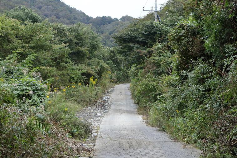 加波山ハイキングコースの舗装路