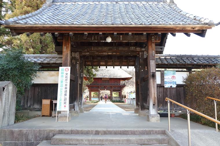 茂林寺への黒門