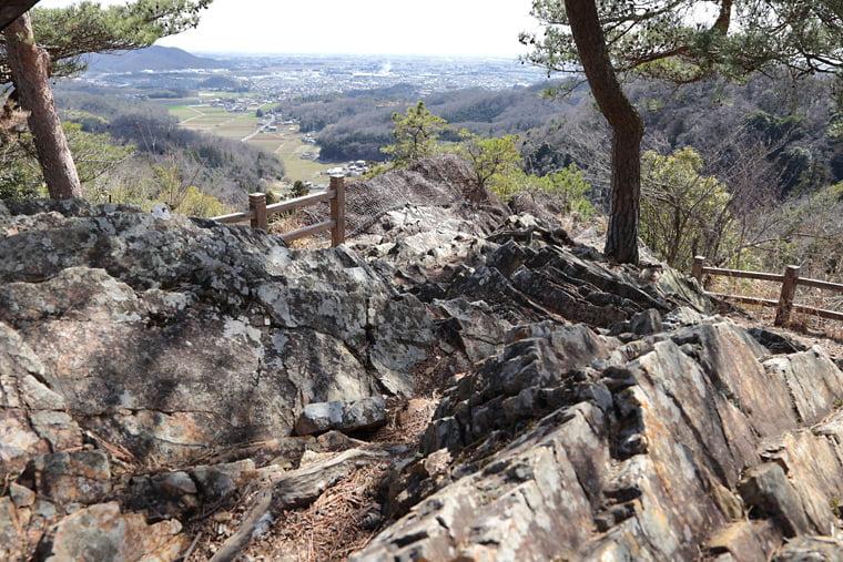 唐沢山城跡の天狗岩からの眺望