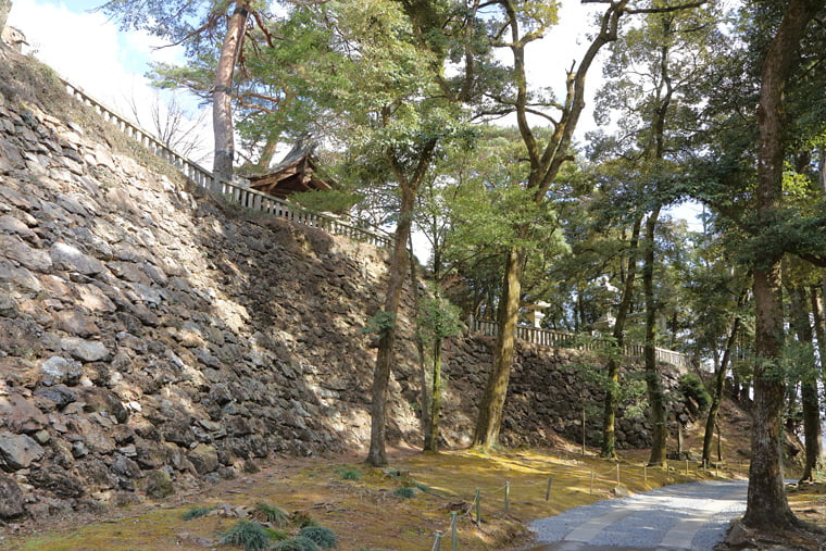 唐沢山城跡の石垣