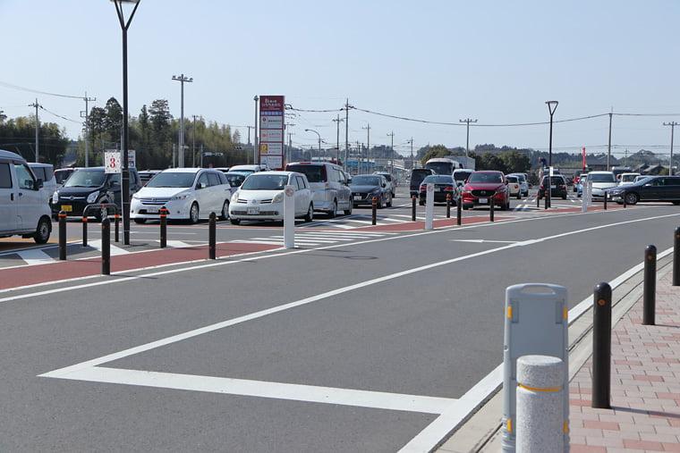 道の駅ひたちおおたの駐車場