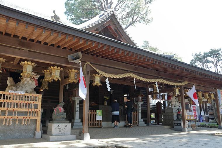 大宝八幡宮の拝殿