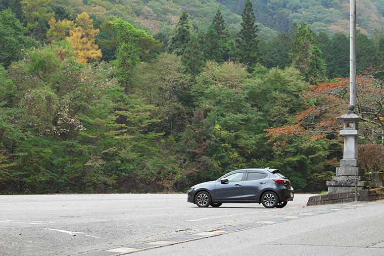 古峯神社の駐車場