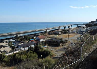 日立駅から太平洋を望む