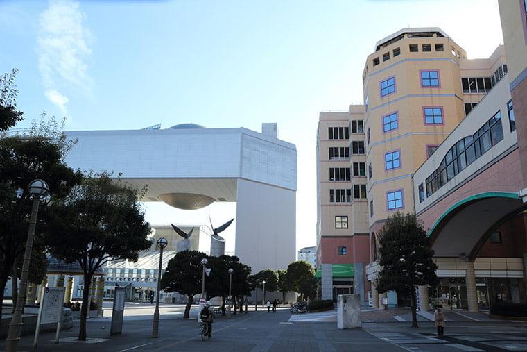 日立駅前の風景