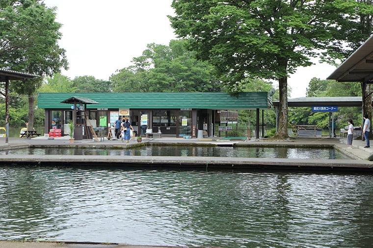 見温泉フィッシングフラワーパークの釣り堀
