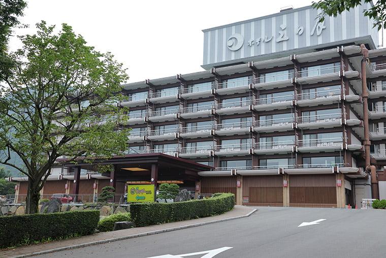 きぬ川ホテル三日月の外観